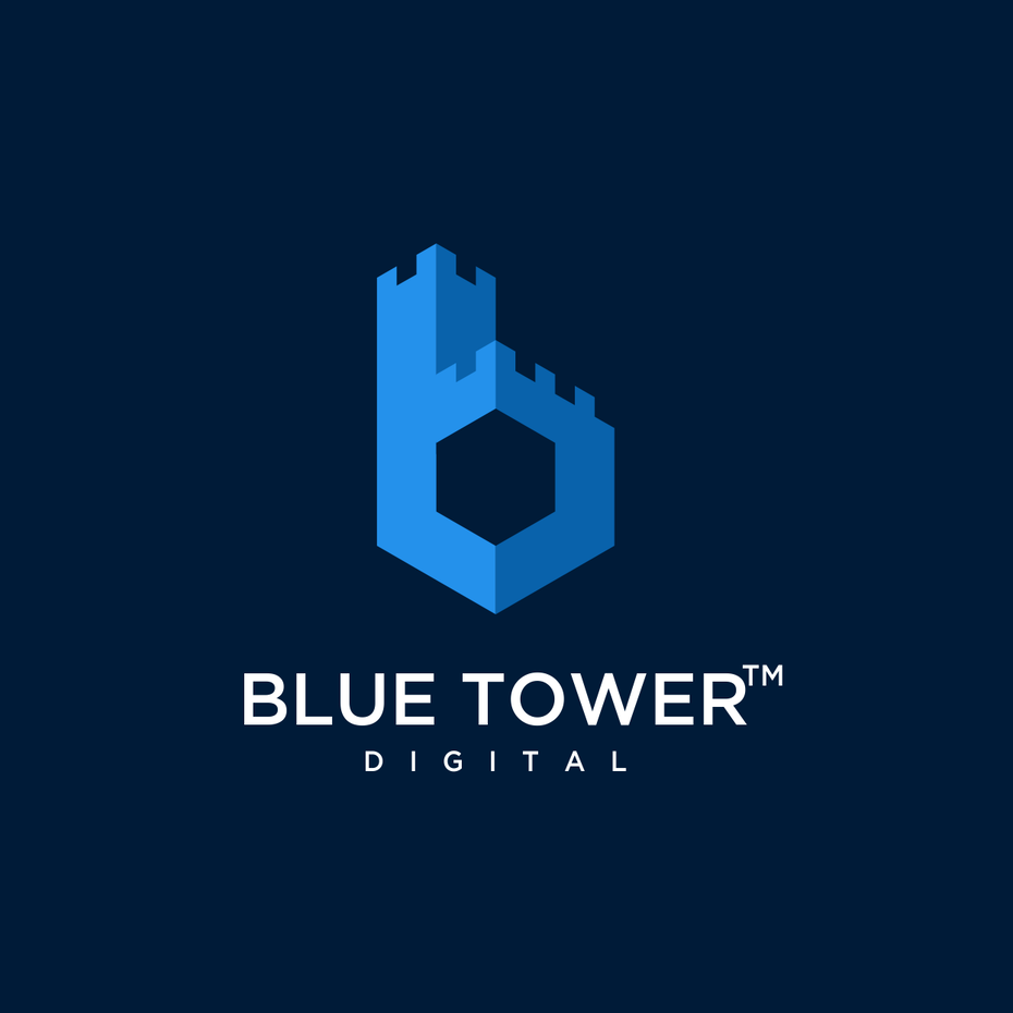 color trends 2020 example: classic blue logo design