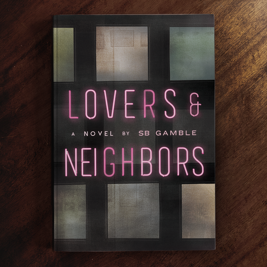 Color trends 2020 example: neon Lovers & Neighbors Book Cover