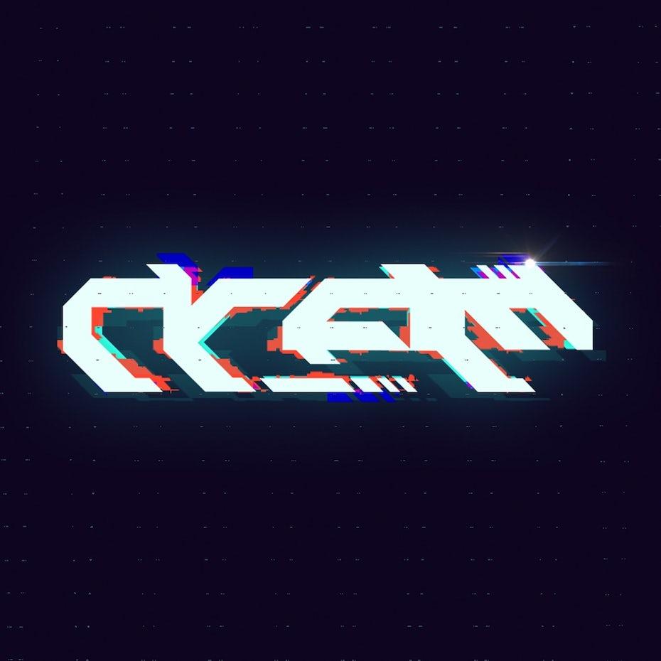 Sci-fi typography logo
