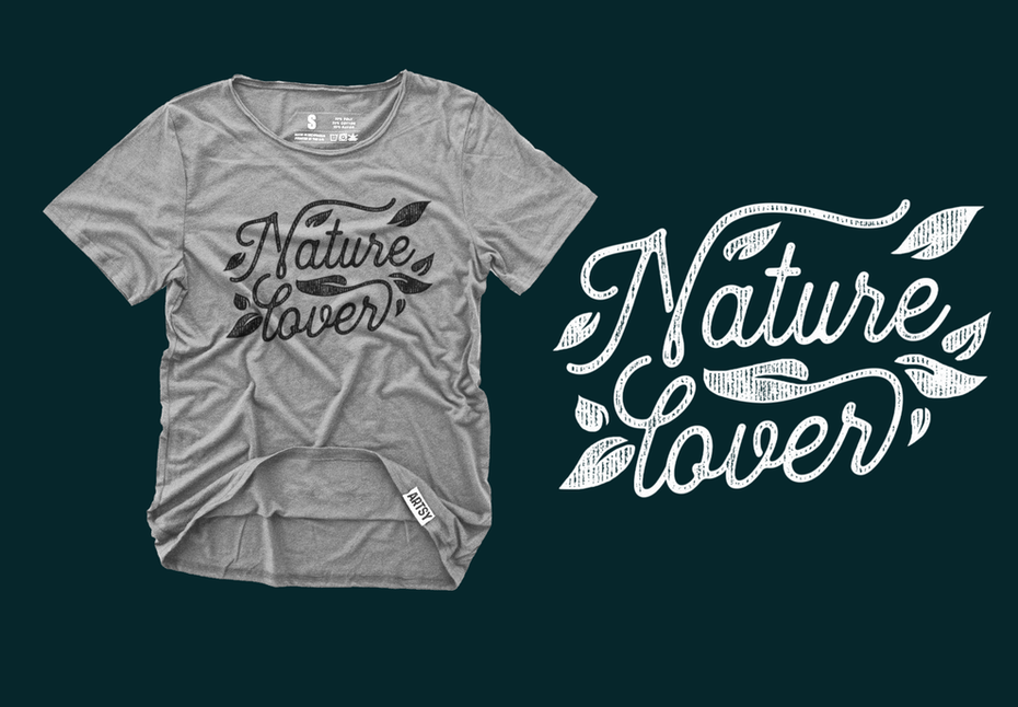 Branding trends 2020 example: Nature Lover T-shirt