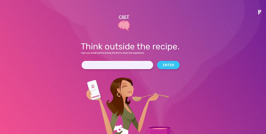 ChefBrain app landing page