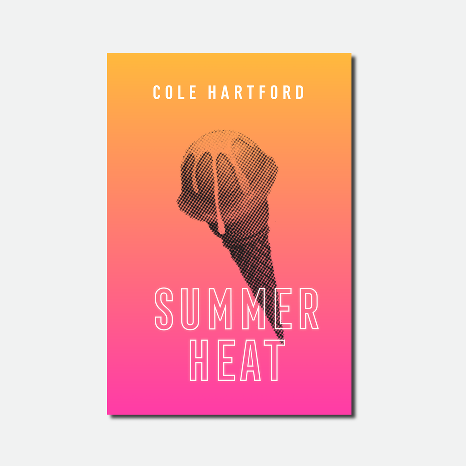 Branding trends 2020 example: Summer Heat book cover