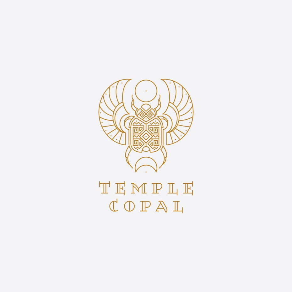Branding trends 2020 example: Temple Copal logo