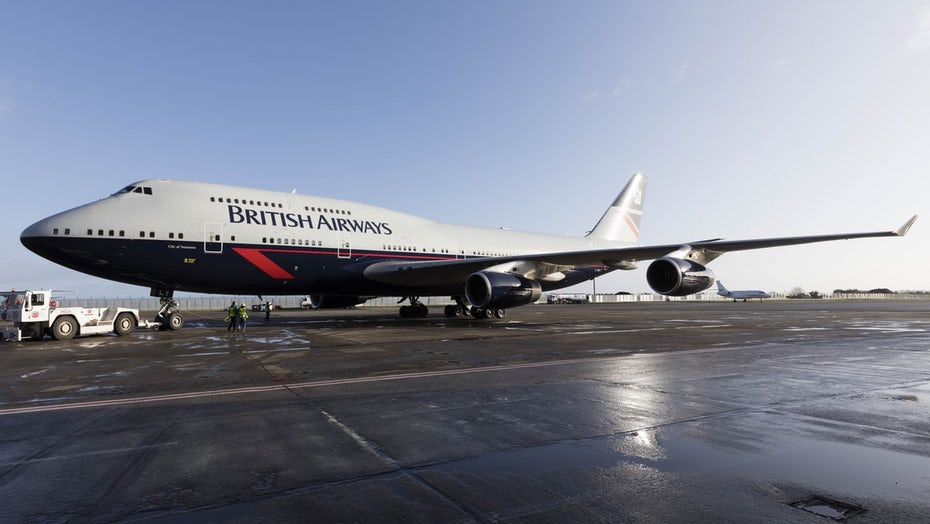 British Airways plane wrap