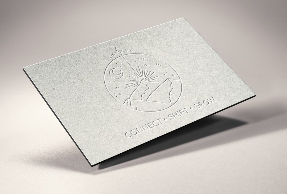mystic mountain etched card