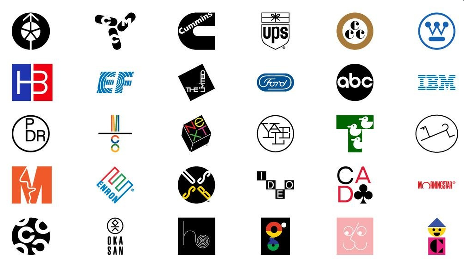 A compilation of Paul Rand's logos
