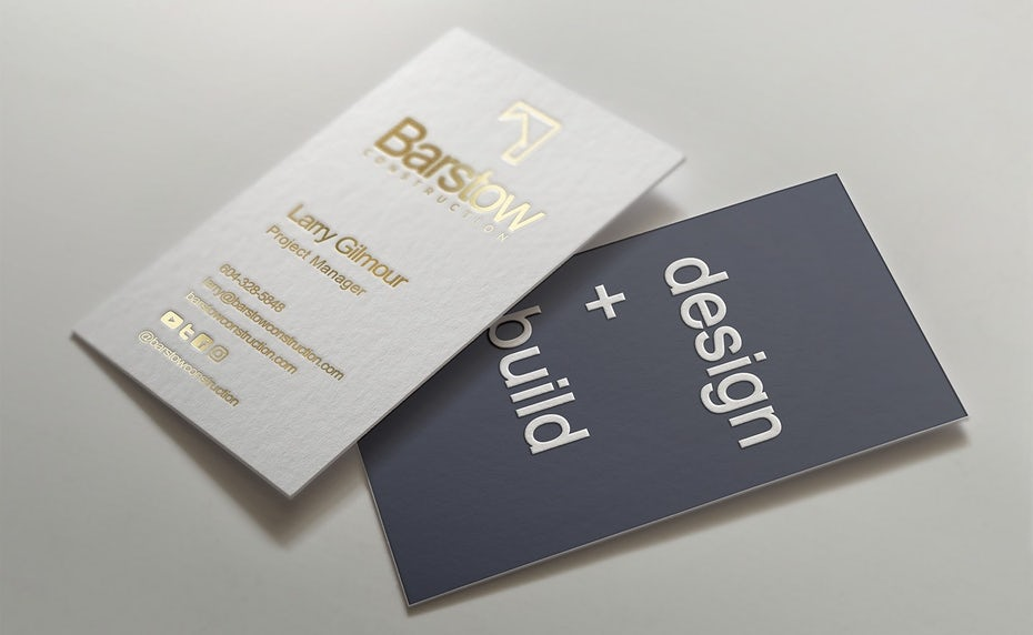 Branding trends 2020 example: Barstow business cards