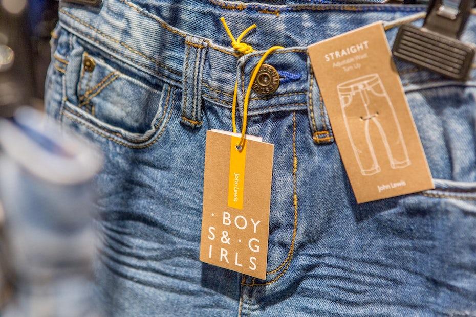 John Lewis childrenswear brand identity