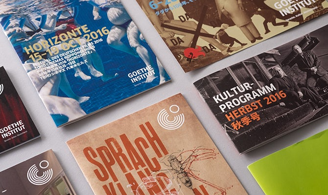 Goethe Institute print materials
