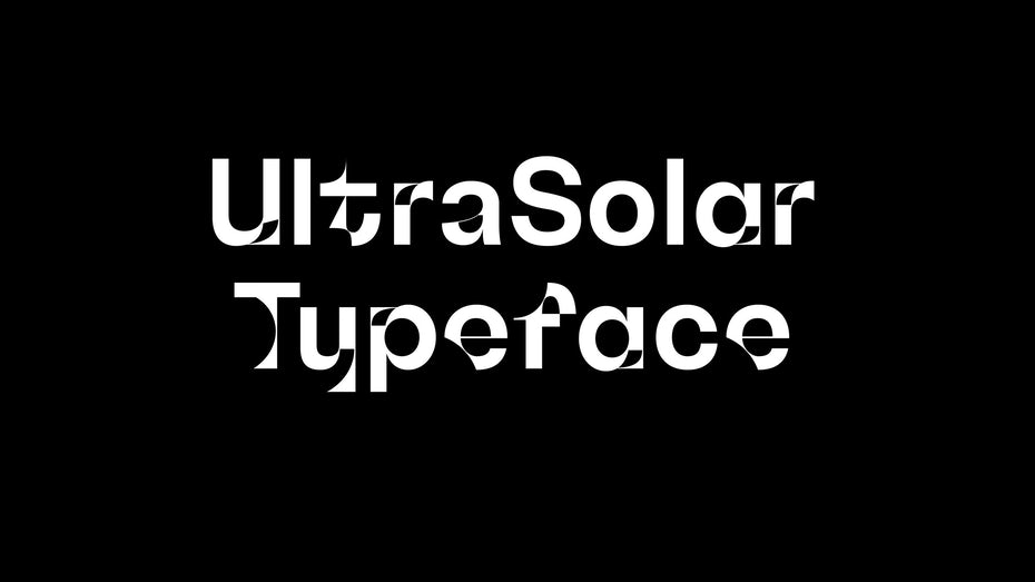 Branding trends 2020 example: UltraSolar typeface