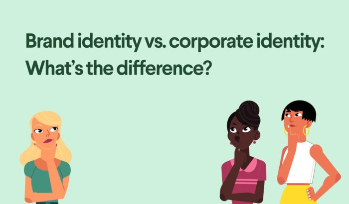 What's the difference between brand identity and corporate identity?