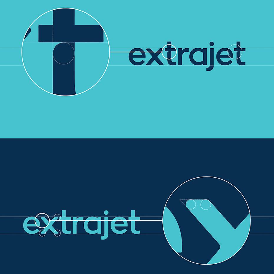 Extrajet brand identity