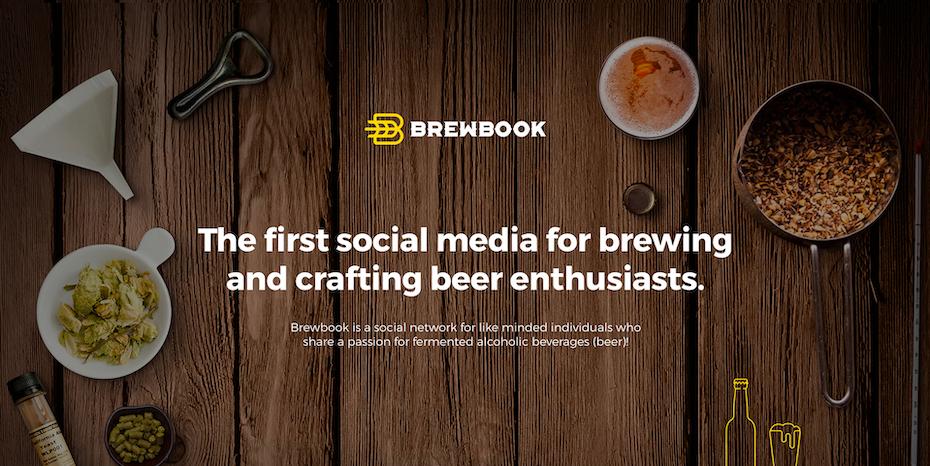Branding trends 2020 example: Brewbook landing page & branding