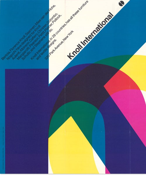 Poster design by Massimo Vignelli