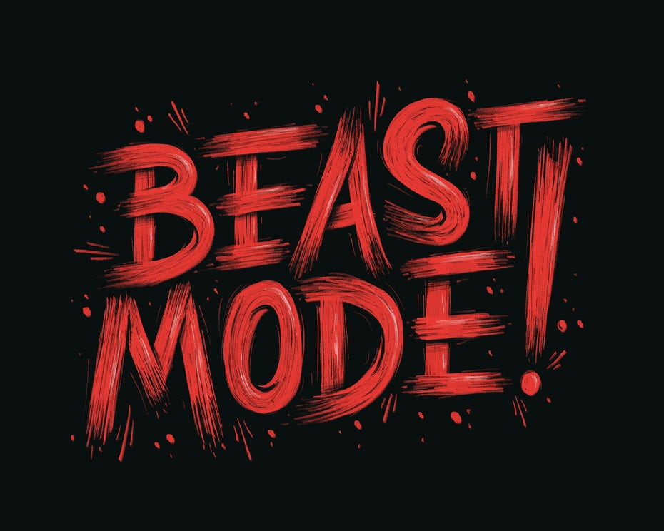 Branding trends 2020 example: Beast Mode typography