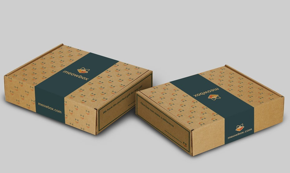 Meowbox shipping box.