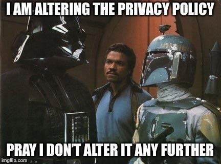 Meme about privacy policy