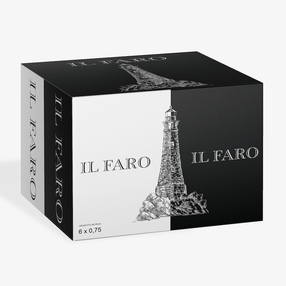 Box for Il Faro wine.