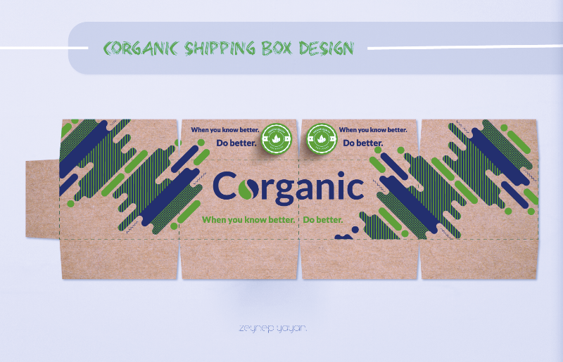 Corganic shipping box.