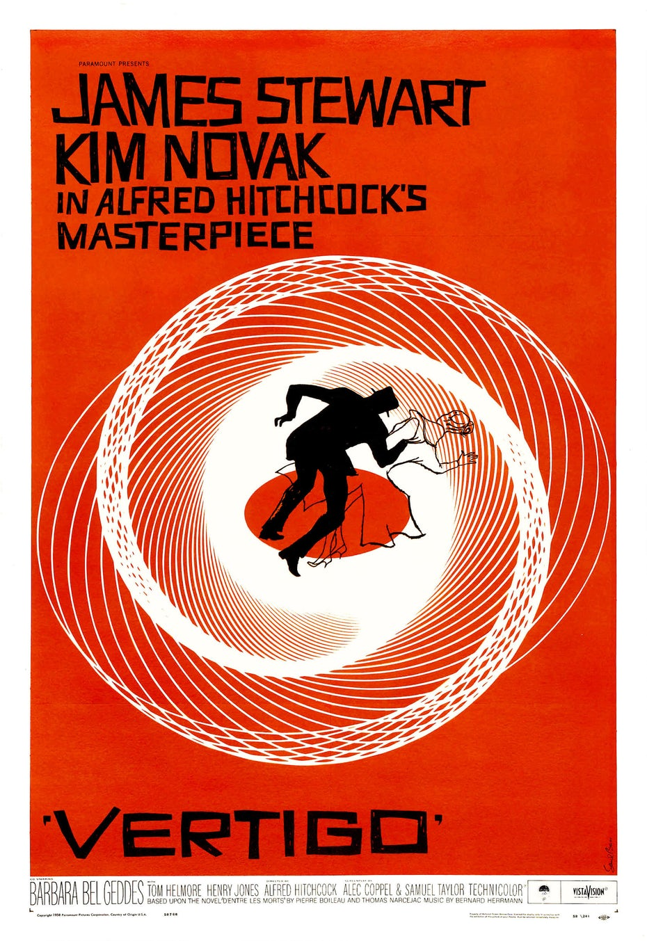 Vertigo poster design by Saul Bass