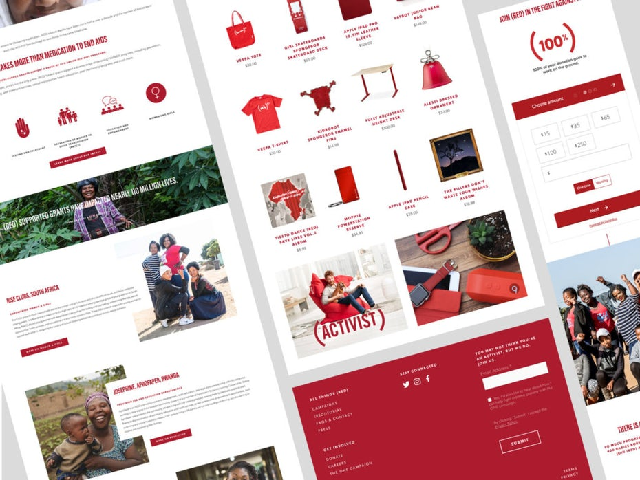 (RED) website design