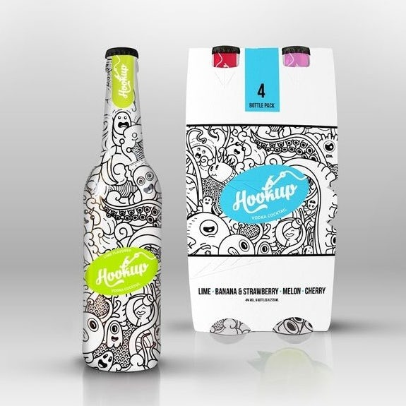 Branding trends 2020 example: Hookup cocktail packaging