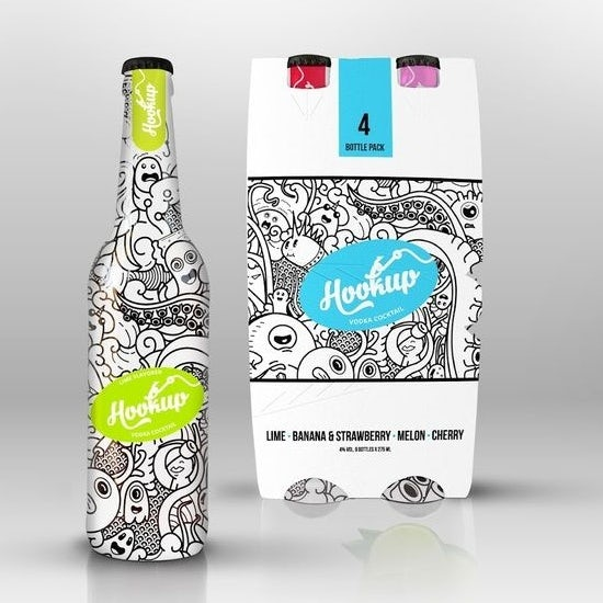 Hookup cocktail packaging
