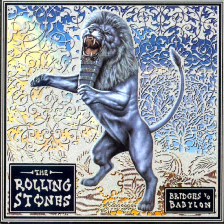 Rolling Stones Bridges to Babylon album cover design