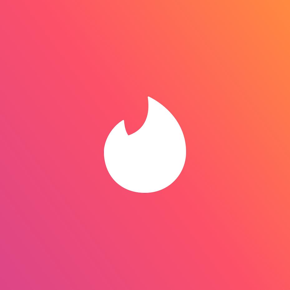 Branding trends 2020 example: Tinder app logo