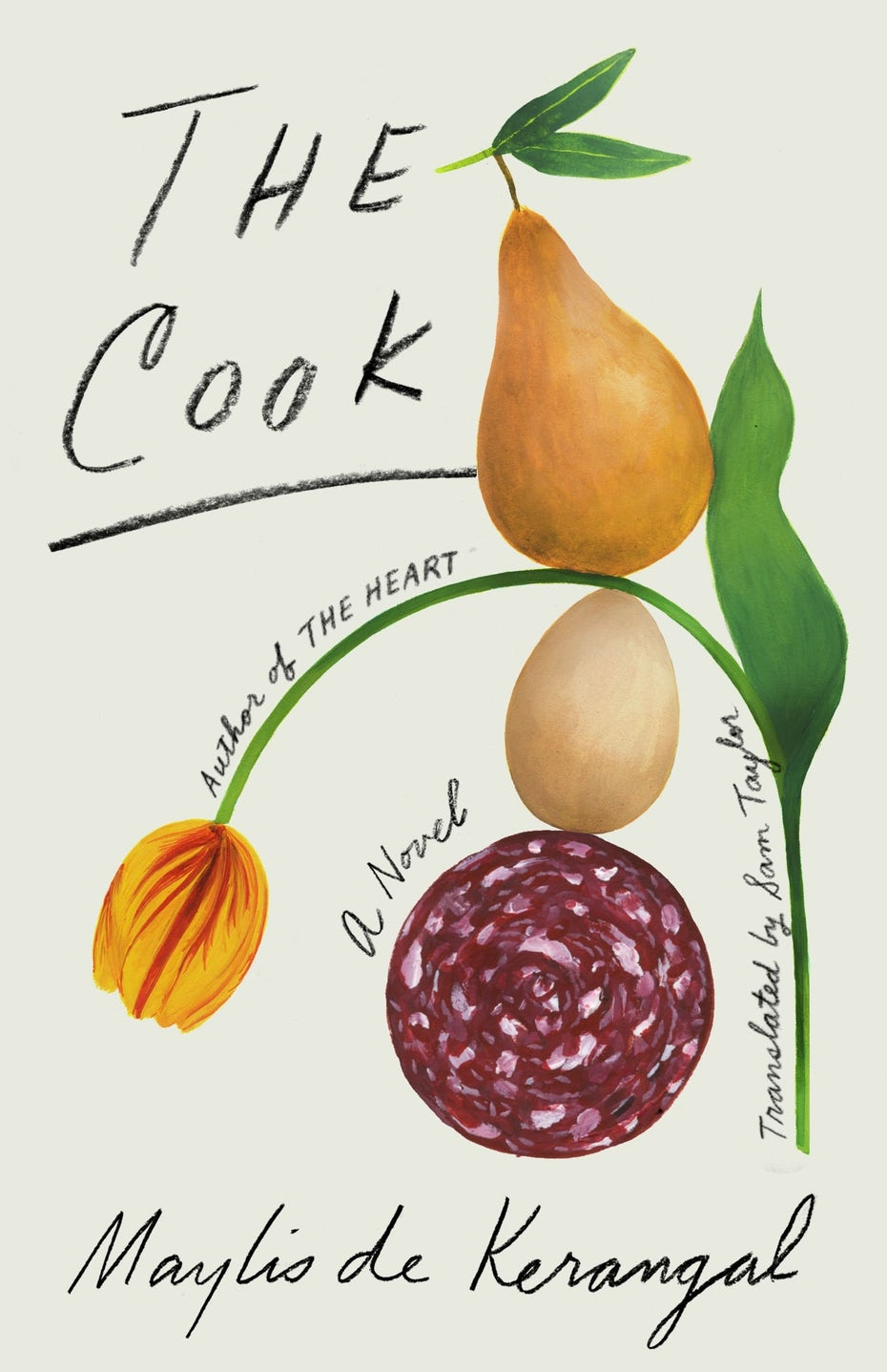 book cover trends 2020 example with handwritten pencil type and food illustratio