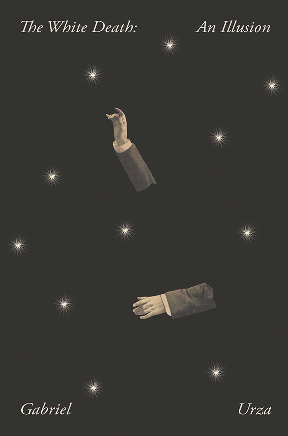 ejemplo de tendencias de portada de libro 2020 con dibujo de brazos y estrellas flotantes