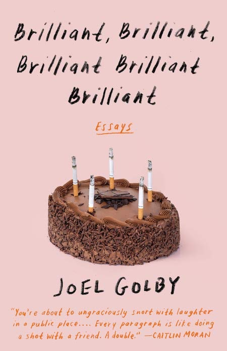 book cover trends 2020 example with handwritten pencil type and cake topped with cigarettes