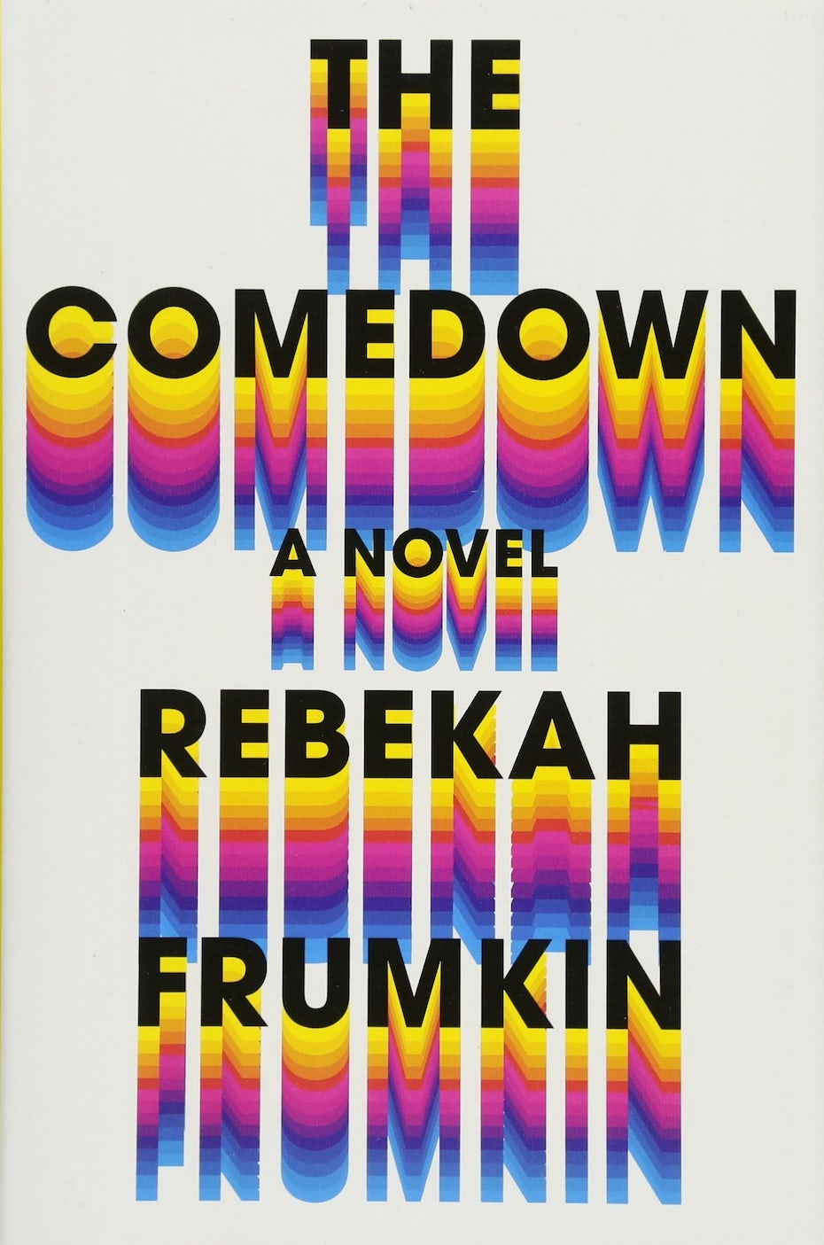 book cover trends 2020 example with 70s rainbow effect on letters