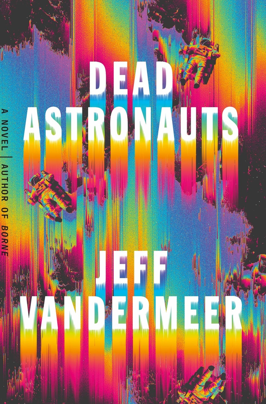 book cover trends 2020 example with psychedelic, bright rainbow effect
