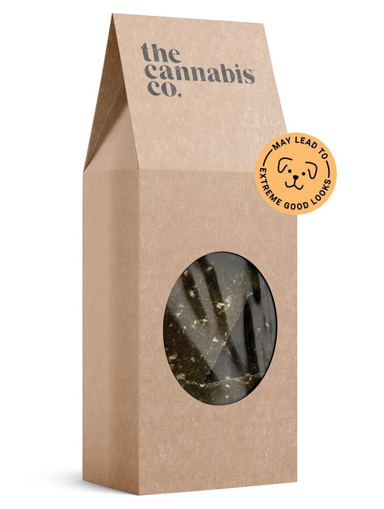 Brown paper dog treat packaging