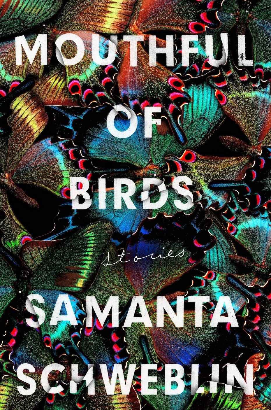 book cover trends 2020 example with texture made of butterflies