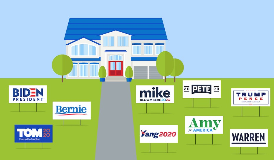 Analyzing the 2020 presidential candidates' logos and branding