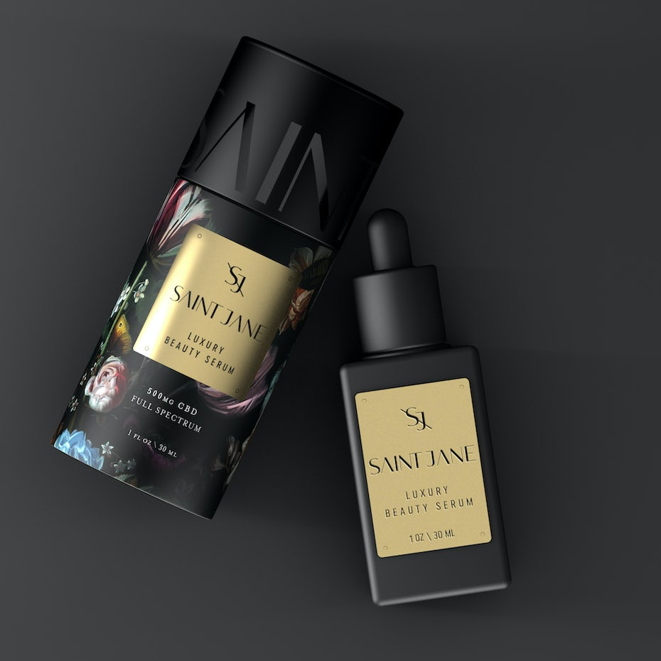 Luxury beauty packaging with flowers