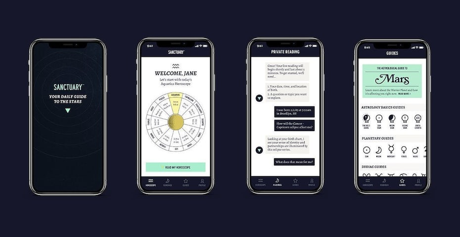 Green and blue app design