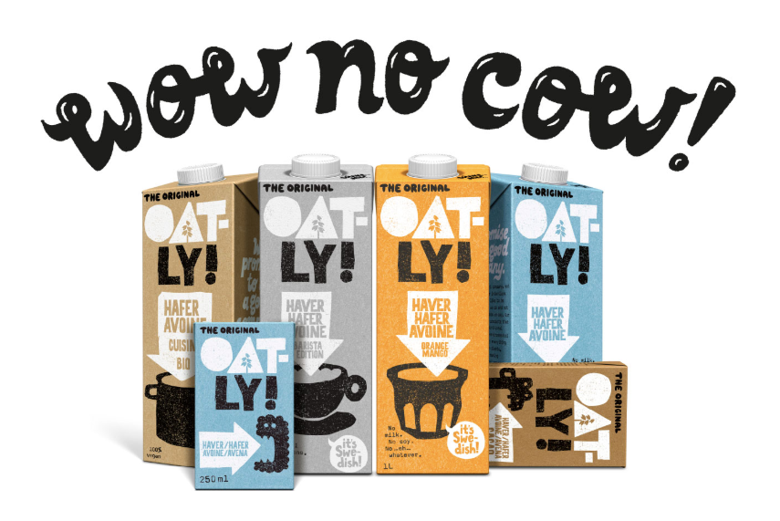 Brand concept example: Oatly visual branding