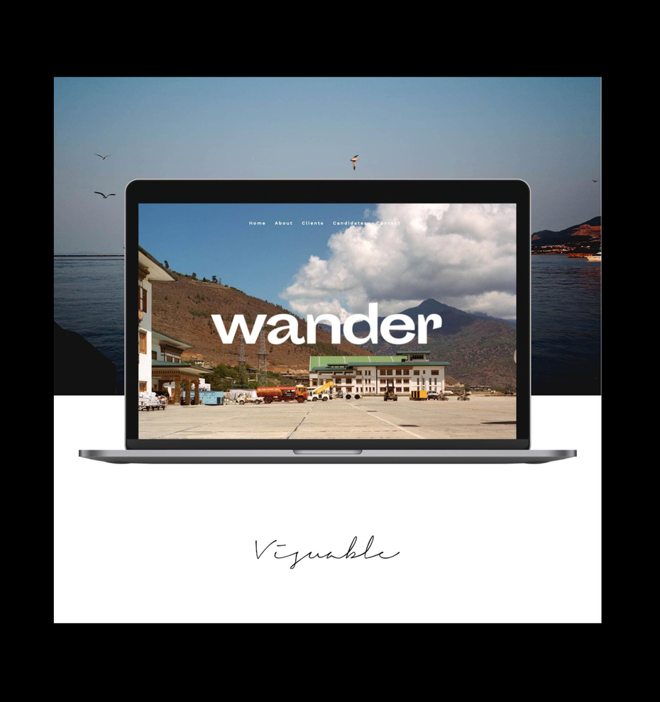 minimalistic travel website design