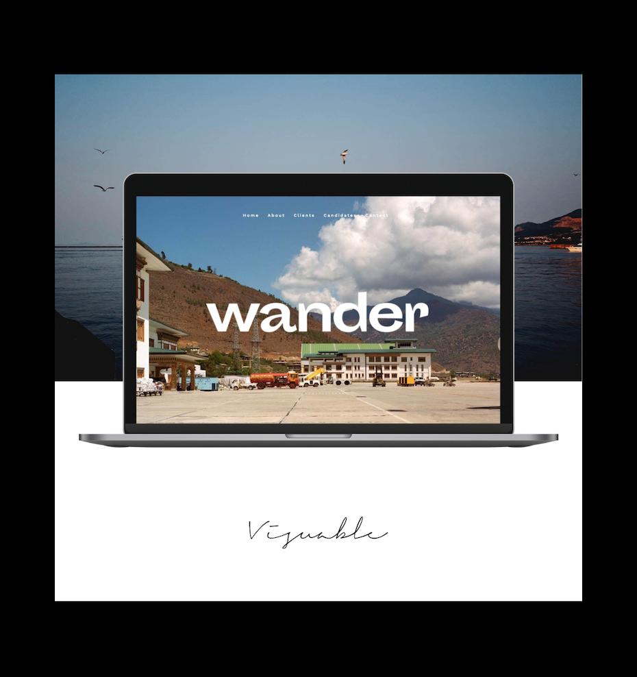 minimalistic travel website design