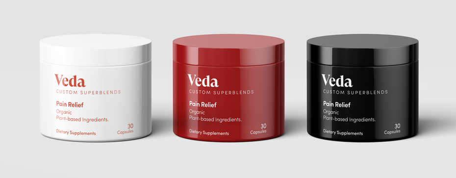 Black and red supplement packaging