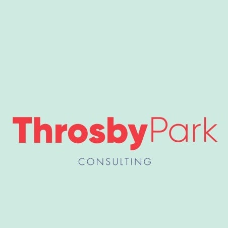 Colors, shapes and font for ThrosbyPark Consulting