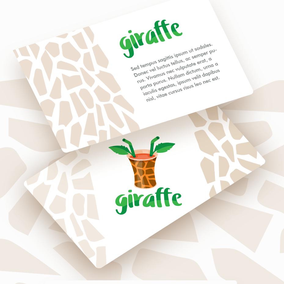 Logo mockups for giraffe