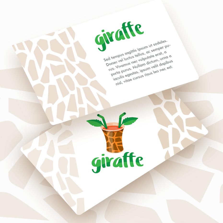 Logo mockups for giraffe