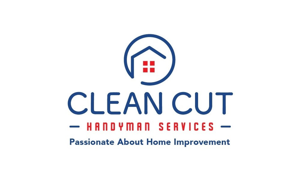 Geometric logos for Clean Cut Handyman Services