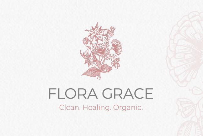Logo, color palette and mockups for Flora Grace
