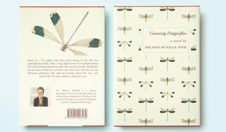 book cover trends 2020 example with delicate dragonfly drawings