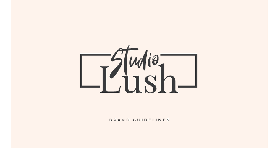 complete set of branding guidelines for Studio Lush